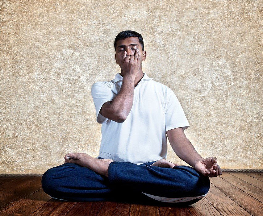 """This breathing exercise helps to balance the left and right (lunar and solar) pathways of breath in the body and instantly calms and focuses the mind."""
